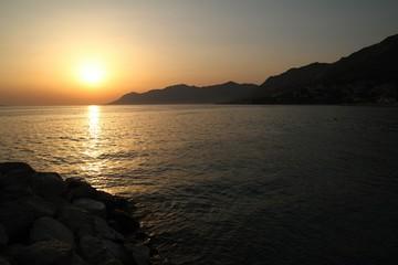 Sunset in Croatia on the Adriatic Sea