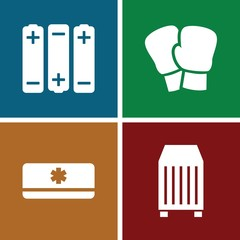 Set of 4 supply filled icons