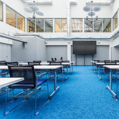 Spacious lecture room