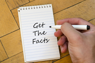 Get the facts concept on notebook