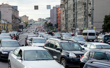 Traffic jam on the street