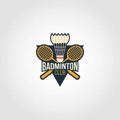 Badminton Logo Design Vector
