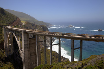 Road, Bridge, Big Sur, California