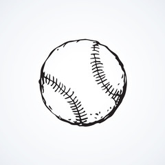 Baseball ball. Vector drawing