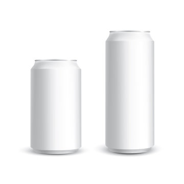Aluminum cans isolated on white background in vector format
