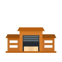 Warehouse icon, flat style