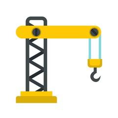 Crane icon, flat style