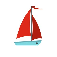 Boat icon, flat style
