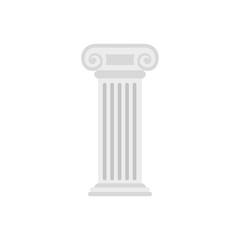 Roman column icon, flat style