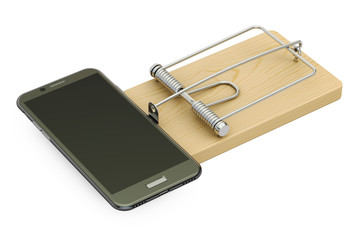 mousetrap with smartphone, 3D rendering