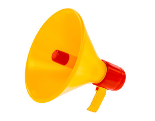 megaphone 3d rendering isolated