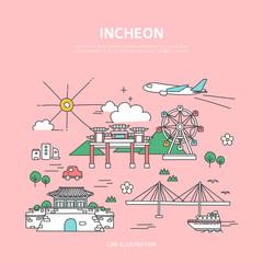 Incheon line layer set