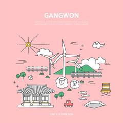 Gangwon line layer set