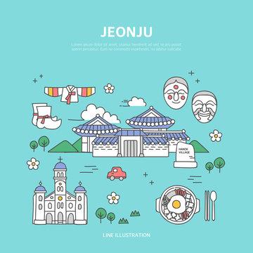 Jeonju line layer set