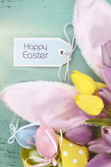 Happy Easter bunny ears.