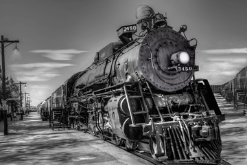 Locomotive cool burning 1030's vintage transported freight and passengers from mid 1920's to 1935 in the southwest.