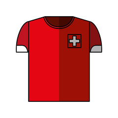 shirt uniform switzerland team vector illustration design