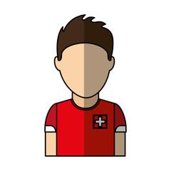 switzerland team player soccer vector illustration design