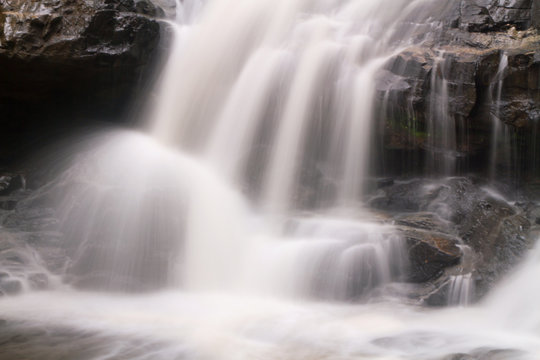 Close up waterfall for background