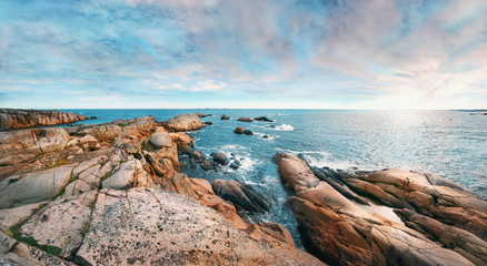 Beautiful panoramic rocky seashore
