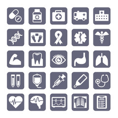 medical symbol icon set