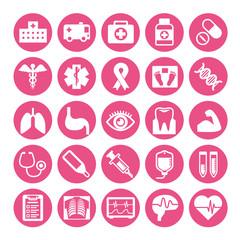 medical symbol icon set