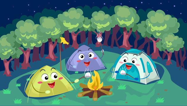 Mascot Tents Camping Smores