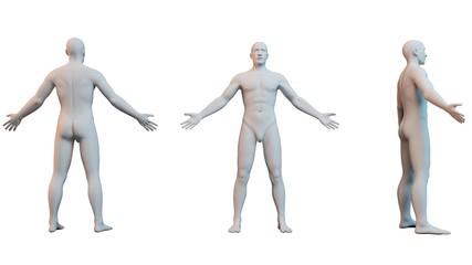 3D white character illustration