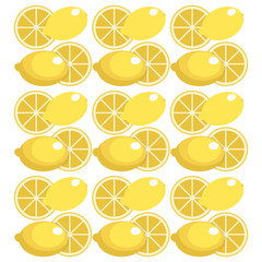 lemon seamless pattern design vector illustration eps 10