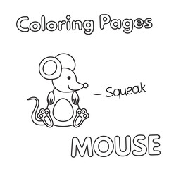 Cartoon Mouse Coloring Book