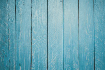 Blue wooden background. toned picture