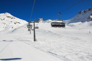 impianto di risalita e pista da sci in Valtournanche