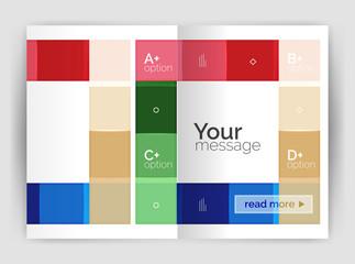 Geometrical brochure a4 business template