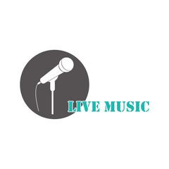 Live music logo.