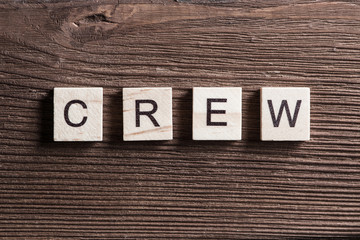 Concept of crew and team in business