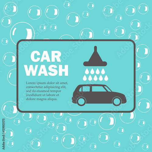 Car Wash Bubbles On Blue Background Stock Image And Royalty Free