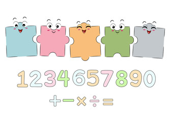 Mascot Puzzle Math Boards