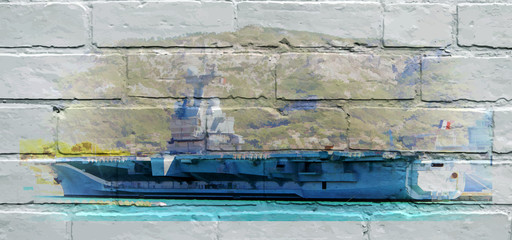 Street art. Porte-avions