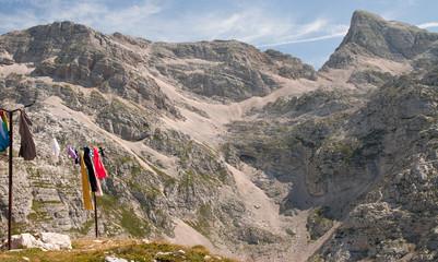 Scenic mountain landscape in Julian Alps, Slovenia