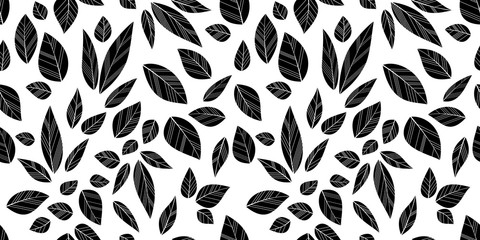leaves seamless background Wall mural