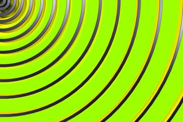 Dark concentric spiral on glowing background