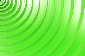 Green concentric spiral on green background