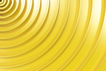 Yellow concentric spiral on yellow background