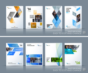 Business vector set. Brochure template layout, cover design annu