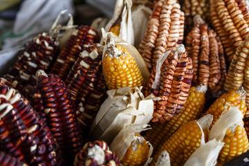 Andean corn at the San Pedro market, Cuzco, Peru.
