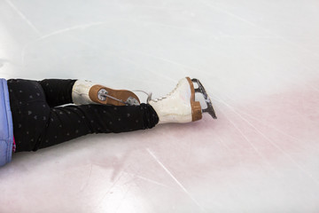 Little ice skater