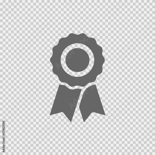 Badge With Ribbons Vector Icon Eps 10 Certificate Certification Stamp On Transparent Background