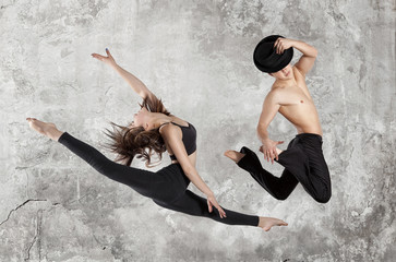 Ballet dancer in black body
