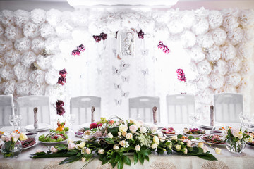 Romantic Design Bride And Groom Wedding Table