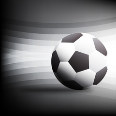 football on Black background Design Vector illustration